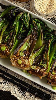 Side Dish Recipes, Vegetable Recipes, Vegetarian Recipes, Cooking Recipes, Healthy Recipes, Veggie Dishes, Food Dishes, Bok Choy Recipes, Asian Cooking