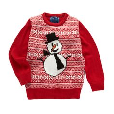 This snowman jumper is a fun addition to any child's winter wardrobe #Christmas #jumper