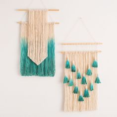"""Add some serious texture to your wall art collection with these beginner-friendly DIY wall hangings. We show you the basic techniques needed for you to put your own spin on your very own piece of art! <strong>Kit Includes:</strong> • Pre-Cut Cotton Twine • Wood Dowels • Fabric Dye Powder Check out the full tutorial <a href=""""http://www.brit.co/diy-dip-dyed-wall-hanging"""">HERE</a> for detailed step-by-step instructions. Makes one wall hanging."""
