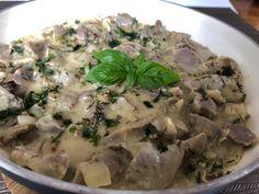 Żołądki drobiowe w sosie musztardowo-chrzanowym - Blog z apetytem Penne, Risotto, Potato Salad, Food And Drink, Potatoes, Meat, Chicken, Cooking, Ethnic Recipes