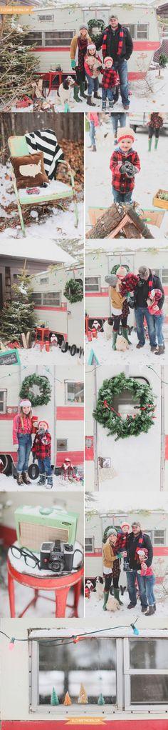 Christmas Camper // Family Winter Photo Shoot