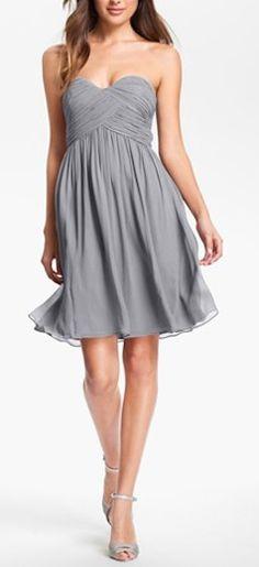 Beautiful Strapless Chiffon Bridesmaid Dress http://rstyle.me/n/e5kcqr9te