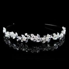 Headband Little Leaf Flower Austrian Crystal Bridal Tiara | eBay