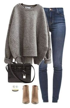 SHOP THE LOOK - casual winter outfit - cute booties - chunky sweater - . - SHOP THE LOOK – casual winter outfit – cute booties – chunky sweater – - Pullover Mode, Pullover Outfit, Casual Winter Outfits, Stylish Outfits, Fall Outfits, Outfit Winter, Dress Casual, Classy Outfits, Summer Outfits