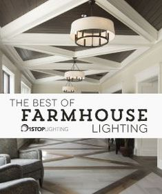 Our favorite farmhouse lighting fixtures of Modern Farmhouse Lighting, Farmhouse Light Fixtures, Outdoor Light Fixtures, Rustic Farmhouse, Modern Lighting, Farmhouse Style, Quoizel Lighting, Elk Lighting, Outdoor Lighting