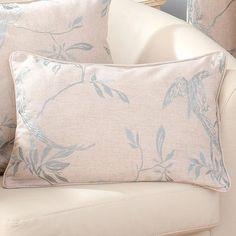 Duck Egg Songbird Collection Boudoir Cushion | Dunelm Mill £14.99
