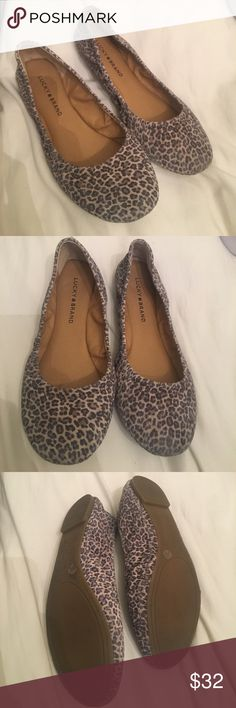 Lucky brand leopard flats Super cute just like new Lucky Brand Shoes Flats & Loafers
