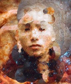 A Spanish artist is taking this one step further by creating portraits out of a mosaic of pictures obtained by the Hubble telescope. The subjects of each portrait submit a photograph, which Sergio Albiac runs through a computer program that generates the image via an algorithm. So far, he has produced 1,250 images, but has a goal of 100,000.