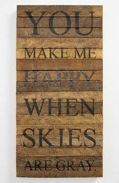 'You Make Me Happy' Wood Wall Plaque available at #Nordstrom