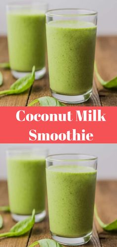 Banana smoothie with blender - Clean Eating Snacks Coconut Milk Protein, Coconut Milk Smoothie, Coconut Milk Recipes, Smoothies With Coconut Milk, Coconut Oil, Lunch Smoothie, Fruit Smoothies, Smoothie Recipes, Breakfast Smoothies