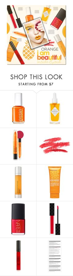 """""""Fall Beauty: Orange Crush"""" by asiyaoves ❤ liked on Polyvore featuring beauty, Essie, Herbivore, Mamonde, Elemental Herbology, ULTA, NARS Cosmetics, Gucci, Topshop and Arche"""