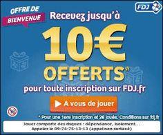 Opération bonus de la Française des Jeux : 10 euros offerts à l'inscription