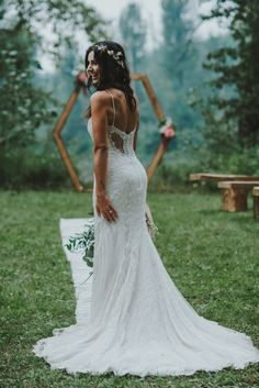 Intricate + form-fitting wedding dress by Novelle Bridal | Image by Oak + Pearl Photo