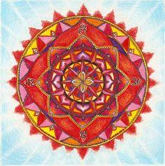 The root chakra mandala - Muladhara or root chakra is symbolized by a lotus with four petals and the color red. Muladhara Chakra, Chakra Healing, Mandala Art, Art On Wall, Chakra Raiz, Reiki, Tattoo Cover Up, Meditation, Mudras