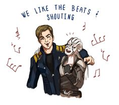 Kirk and Jaylah and their shared love for the Beastie Boys // jeweledowl812 ✧