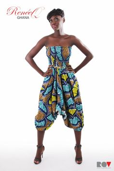 Cute piece form a Ghanaian designer ~ must have mom pick up before she comes back to the states! Cloths, Must Haves, Harem Pants, Strapless Dress, How To Make, How To Wear, Mom, Cute, Fashion Tips