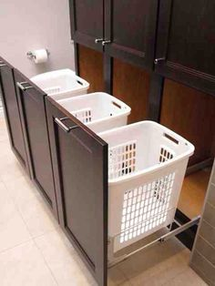 Hidden Laundry baskets. This would be my idea of heaven. It's the little things that matter