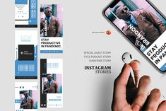 Promote your podcast now for increase of you podcast readers, this template very easy editable using powerpoint. Instagram stories is... Instagram Design, Instagram Feed, Instagram Story, Company Presentation, Business Stories, Story Template, Editing Pictures, Keynote Template, Special Guest