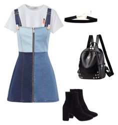 """school/college look #7"" by kiwiid on Polyvore featuring Alice McCall and Balenciaga"