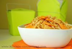 Kitchen Concoctions: Loaded Baked Potato Chex Mix #recipe #snack #appetizer