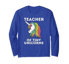 Unisex Thanksgiving Teacher Of Tiny Unicorns LOvers Long Sleeve T-Shirt Gifts