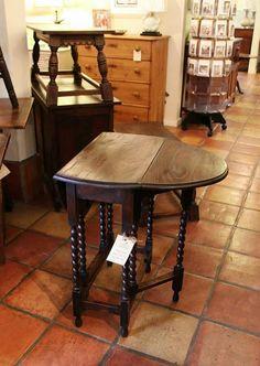 Antique English Barley twist gate leg table - The Plantation Shop