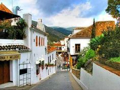 Street in Mijas, Málaga, Spain.   Visited in 1999