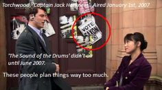 But it makes it sooo cool! I was just telling Jon I noticed Doctor Who Saxon posters in Torchwood! Doctor Who, Twelfth Doctor, Torchwood, Sherlock, Captain Jack Harkness, Runaway Bride, John Barrowman, Never Stop Dreaming, Don't Blink