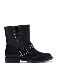 Bershka Turkey - Bershka LEATHER stud detail boots