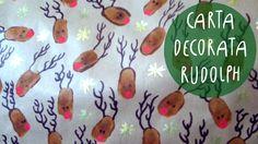 Tutorial Natale FAI DA TE: come fare la CARTA DECORATA RUDOPLH ( FACILIS...