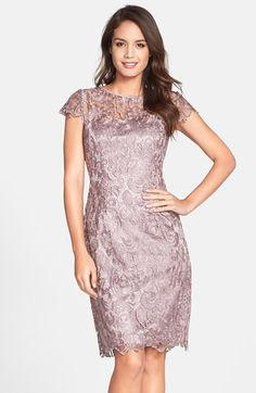 Patra Crocheted Venise Lace Sheath Dress available at #Nordstrom