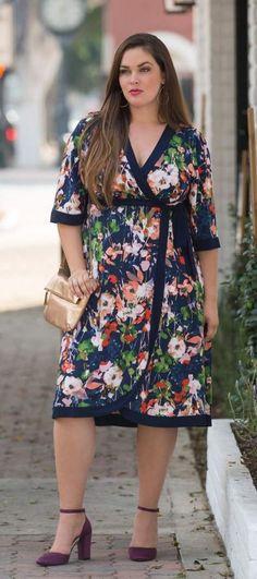 Plus Size Wrap Dress - Plus Size Fashion for Women #plussize