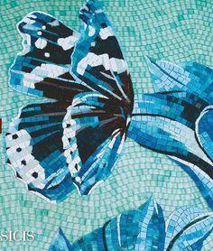 Butterfly Mosaic, Mosaic Flowers, Mosaic Crafts, Mosaic Projects, Mosaic Designs, Mosaic Patterns, Stained Glass Art, Mosaic Glass, Sicis Mosaic