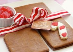 Adorable blog with some incredible pics of a Candy Cane Christmas party - I want this ribbon!