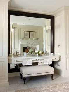 wall mirror could easy enough be done with the mirror I already have & some molding