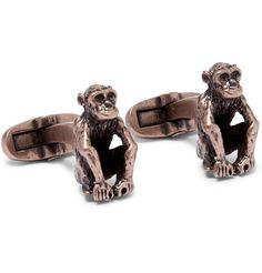 Whether you enjoy smart dressing or sport a suit with reluctance, <a href='http://www.mrporter.com/mens/Designers/Paul_Smith'>Paul Smith</a>'s brass cufflinks will lighten the mood. Sculpted into the shape of primates, they are burnished for a cool vintage effect and finished with designer-embossed T-bar fastenings.