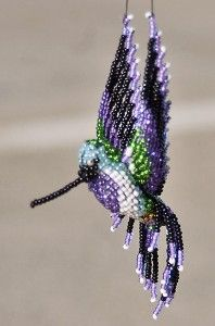 Seed Bead Hummingbird Pattern | Beaded 3D Costa's Hummingbird