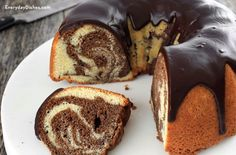 Classic Vanilla And Chocolate Marble Cake Recipe This Yummy Marble Cake Recipe Is A Bite Of Sweet Nostalgia Make A Rich Buttery And Moist Cake Completely From Scratch Marble Cake Recipes, Pound Cake Recipes, Dessert Recipes, Chocolate Marble Cake, Chocolate Bundt Cake, Food Cakes, Cupcake Cakes, Cupcakes, Marbel Cake