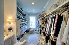 """Love that the closet has a vanity in it.  All my """"stuff"""" hidden from view."""
