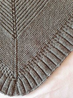 This shawlette is a perfect accessory for a crisp fall day, and can be worn either over the shoulders, or as a warm scarf with the point in the front. It is easily made larger by increasing the rows in any section, as the stitches do not change within the middle section of the pattern. An intermediate or advanced knitter can complete this very quickly, and it makes a wonderful gift.