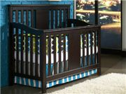 Uptown features 3 convertible cribs to choose from; one of which is sure to fit your style. These cribs include: the Chelsea crib, with the perfect amount of detail with a scroll curve headboard; the Manhattan crib, a modern sleigh design with bent slats in the headboard and footboard; and the Brooklyn crib, an urban crib in a sleek style. Functional case pieces include a Single Dresser, 5 Drawer Chest, and Bookcase/Hutch. As a hutch, this piece can add great vertical storage space.