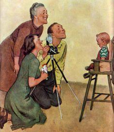 Classic Norman Rockwell, my dad's favorite painter. Norman Rockwell Prints, Norman Rockwell Paintings, Illustrations Vintage, Illustration Art, Retro Art, Vintage Art, Vintage Pins, Peintures Norman Rockwell, Blog Art