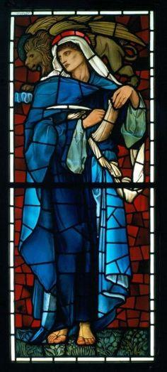 St Mark the Evangelist. Designer: Sir Edward Burne-Jones, Manufacturer: Morris & Co. Both Burne-Jones and Morris were members of The Artists Rifles.
