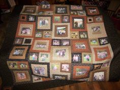 Memory quilt with pictures of my family for our reunion