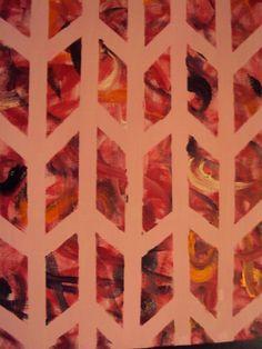 O Rosa Abstrato, tinta a óleo sobre tela, 2012, por Jéssica Batista.