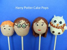 Harry Potter Cake Pops:  All cake pops are wrapped individually in clear plastic bags and tied with ribbon (from an etsy shop).