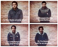 The Musketeers - Series 1 DVD extras (lol'd so hard at Santiago <3 can't help but think that maybe they should have put him first and had Tom do that bit though :P)