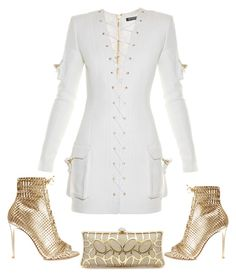 """#ryder9"" by sasharyder on Polyvore featuring Gianvito Rossi and Balmain"