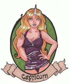 Zodiac Series: Capricorn by doodleallday