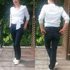 Blouse cache - coeur #burda et jeans levis #mmmay16 #jeportecequejecouds Jeans Levis, Ruffle Blouse, Instagram Posts, Pants, Tops, Women, Fashion, Trouser Pants, Moda